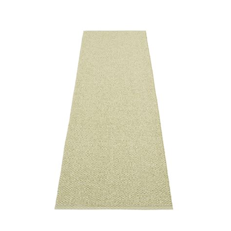 Plastic Kitchen Rugs Svea Plastic Rug 70 Cm Wide Olive Metallic 183 Seagrass Pappelina