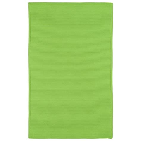 Lime Green Outdoor Rug Kaleen Lime Green 2 Ft X 3 Ft Indoor Outdoor Area Rug 3020 96 2 X 3 The Home Depot