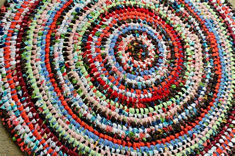 37 amish knot rag rug toothbrush rug multi color