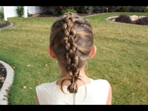 cute girl hairstyles knotted braid french knotted braid cute girls hairstyles youtube
