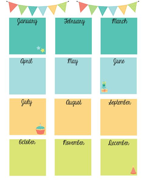 birthday calendar template free download keep in touch with friends with a birthday calendar