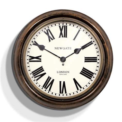 Clock Radio For Bathroom Newgate Clocks King S Cross Station Clock Dark Wood
