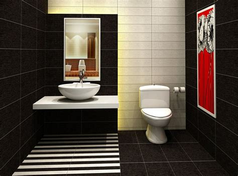 Minimalist Bathroom Ideas by Black Tile For Washroom
