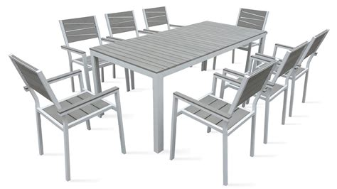 tables de jardins table de jardin 8 places aluminium polywood