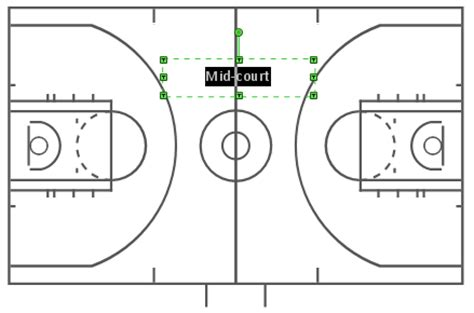 create basketball court diagram conceptdraw helpdesk