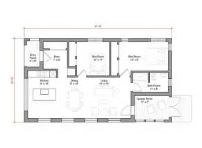 house plans 1000 sq ft 1000 square foot energy efficient prefab house plan by go