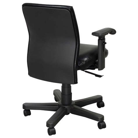 Knoll Bulldog Chair by Knoll Bulldog Operational Leather Chair Task Chair Black
