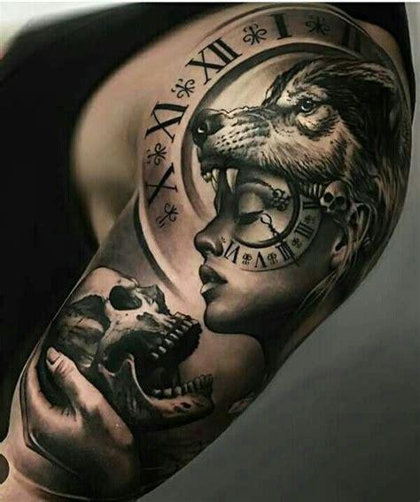 tattoo girl and wolf wolf girl tattoo idea amazing full sleeve tattoo