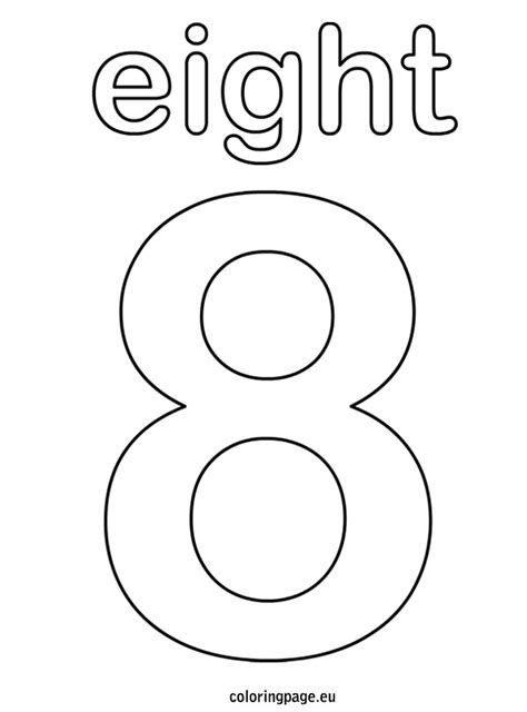 Coloring Page Number 8 by Eight Coloring Page