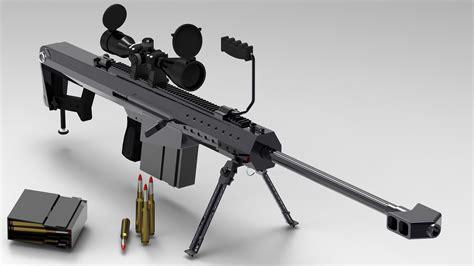 barrett m107 50 caliber sniper rifle free 3d model stl