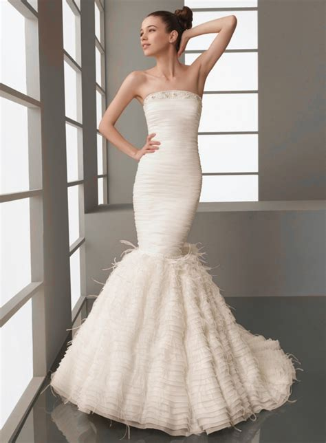 mermaid style trumpet wedding dresses styles wedding