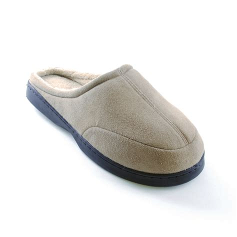 fleece slippers mens fleece lined classic slip on slippers scuffs indoor