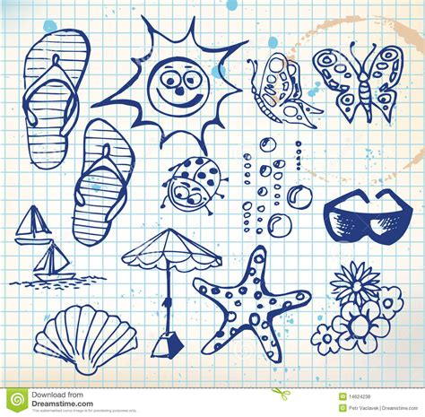 how to create elements in doodle summer doodle elements royalty free stock photos image