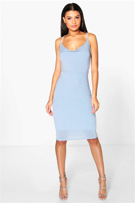 Dress Of The Day Gap Cowl Neck Sweater Dress by Lyst Boohoo Reeva Cowl Neck Midi Dress In Blue
