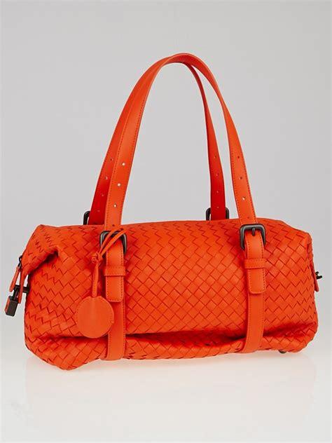 Bottega Veneta Montaigne Bag Update by Bottega Veneta Tangerine Intrecciato Woven Nappa Leather