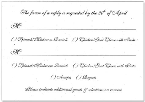 wedding menu choice template bintou s brenda 39s wedding is giving away a