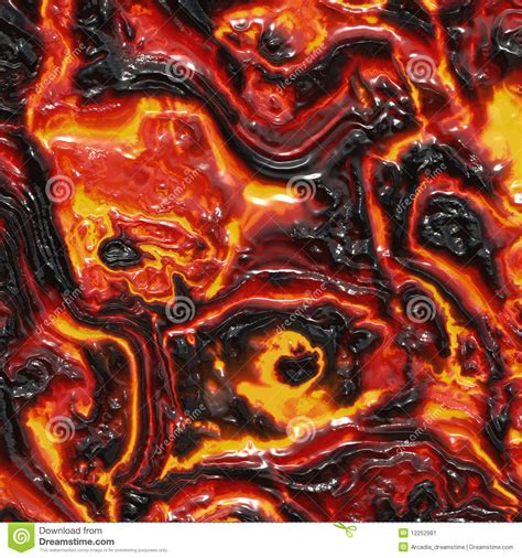 molten lava or magma stock image image of matter heat