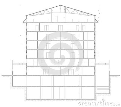 how does a planned c section work building section plan stock photography image 26223492