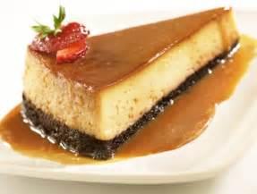 flan y pastel de chocolate