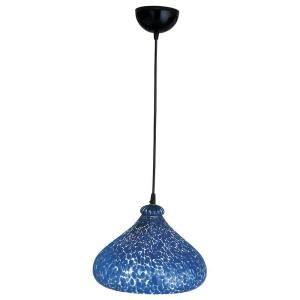 Cobalt Blue Pendant Lights Plc Lighting 1 Light Mini Drop Pendant Black Finish Cobalt Blue Glass Cli Hd2000bk The Home Depot