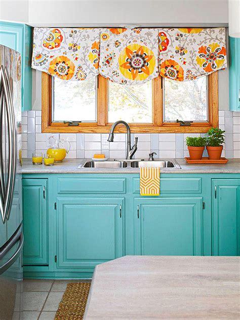bright kitchen colors subway tile backsplash turquoise cabinets subway tile