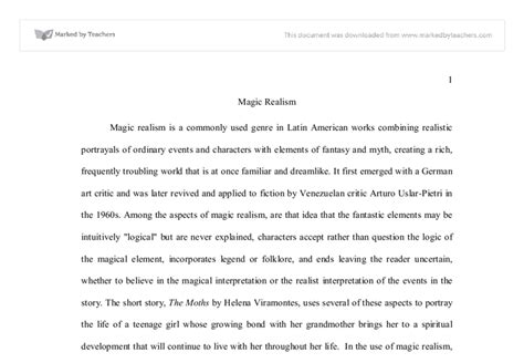 Magical Realism Essay by Magic Realism Linguistics Classics And Related Subjects Marked By Teachers