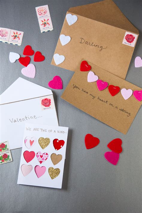 diy valentines cards for diy valentines day cards modern magazin