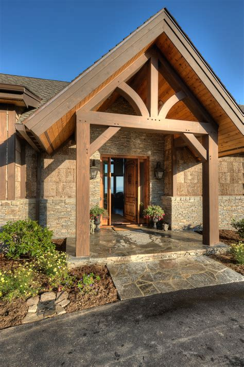 front entry timber frame entryways