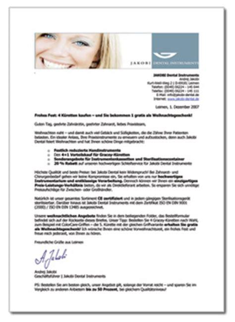 Anschreiben Muster Neukundengewinnung Arbeitsproben Werbebriefe Mailings Satzmacher