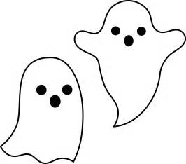 Simple Spooky Halloween Ghosts  Free Clip Art sketch template