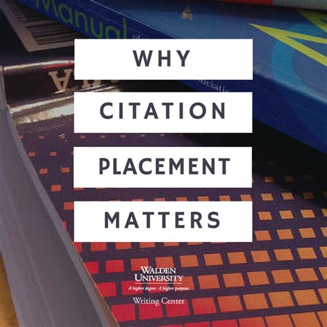walden book citation citation placement where the apa citation goes in a
