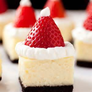 easy homemade holiday appetizers santa hats cheesecake