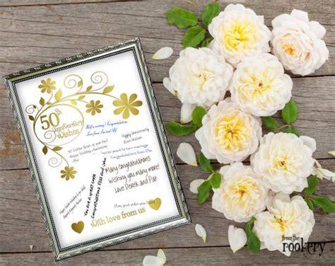 50th Wedding Anniversary Gift Ideas