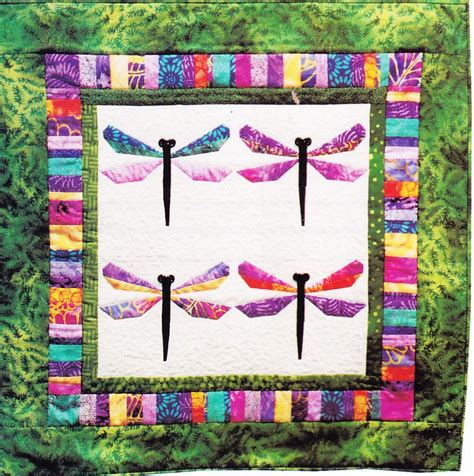 Foundation Pieced Quilt Patterns by Pattern Bali Dragonfly Foundation Paper Pieced Wall