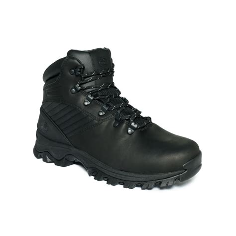 timberland leather waterproof boots in black for lyst