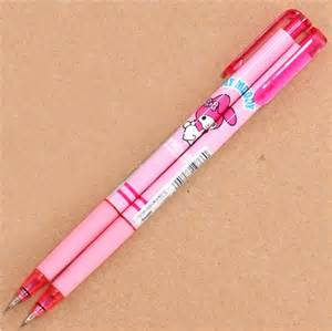 Light pink japanese my melody rabbit mechanical pencil pens pencils