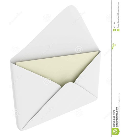 Envelopes With Paper - envelope with blank paper royalty free stock photo image