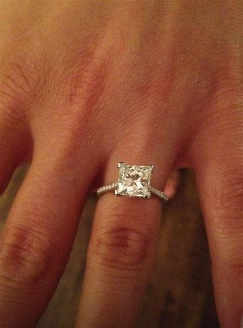princess cut; diamond band   With This Ring   Pinterest