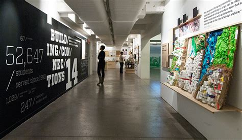 infographic wall building connections exhibition typography wall mural