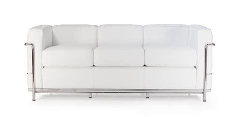 le corbusier 3 seater sofa lc2 three seater sofa by le corbusier
