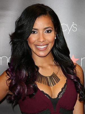 ombrea hair for latinas julissa bermudez dyes her ends purple more latina celebs
