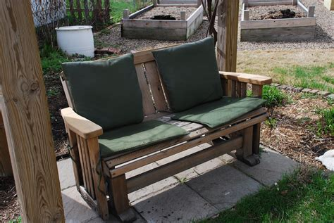 porch swing gliders adventures in green living glider to porch swing diy