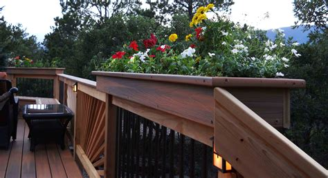 deck rail planter boxes deck rail planter boxes help children learn about plants doherty house