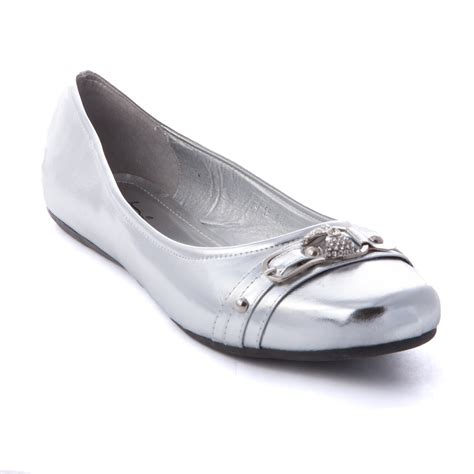 silver ballet flat shoes s ballet slip on casual flat shoes ballerina loafer