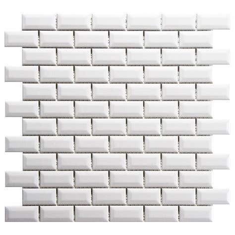 bevelled white gloss subway tile 75x150mm subway tiles merola tile metro subway beveled glossy white 12 in x 12