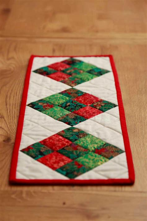 table runners square patterned table runner