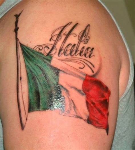 italian flag tattoo italian flag pictures ideas
