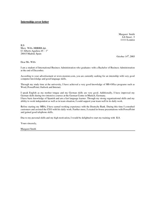 sle cover letter for internship in computer science cover letter for summer internship in computer science