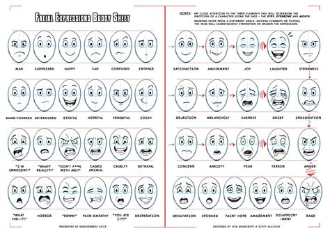 Facial Expressions Buddy Sheet For Comics Cartoons By Darkspeeds On Deviantart Buddy Checklist Template