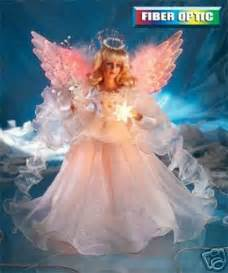 20 quot animated fiber optic angel moving wings tree topper